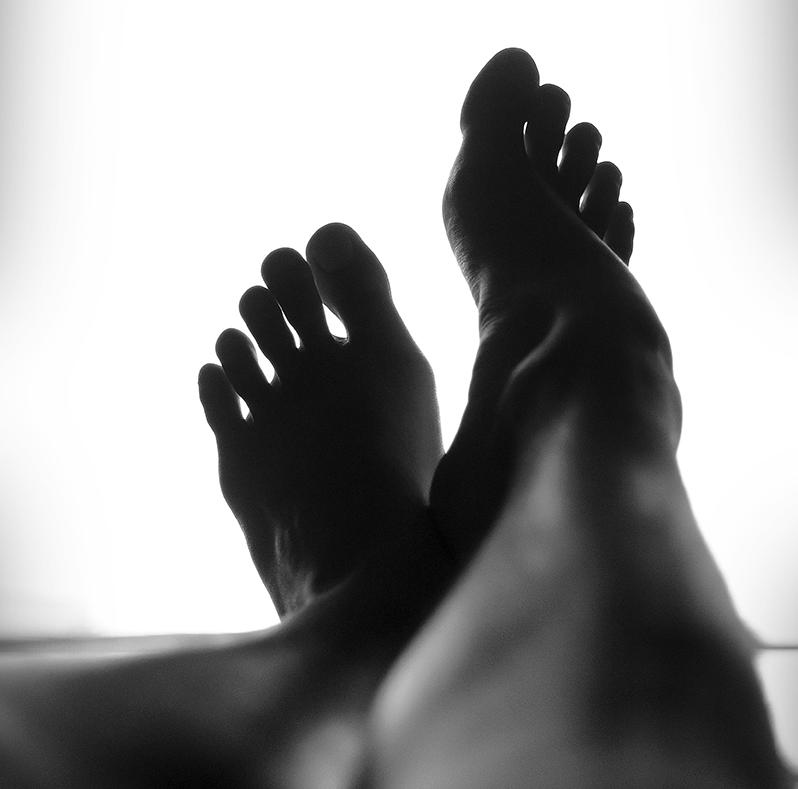 Feet black and white