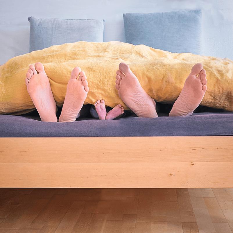 Feet family bed