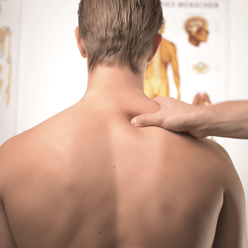 Physiotherapy back massage spine